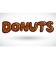 Sign doughnut vector image