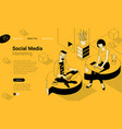 social network communication vector image vector image