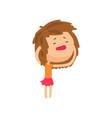 unhappy girl suffering from headache cartoon vector image vector image