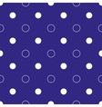 White polka dot geometric and circles seamless vector image