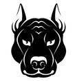Dog face symbol vector image