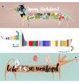 set with cute cartoon dachshunds vector image