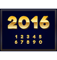 2016 Sign in Gold in vector image vector image
