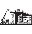 AH 391Scaffolding and lifting machinery vector image vector image