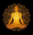 beautiful woman doing yoga meditation vector image vector image