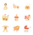 birth icons set cartoon style vector image vector image