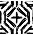 black and white simple abstract seamless pattern vector image vector image