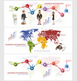 business banner for facebook poster design vector image