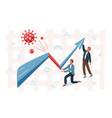 business graph representing stock market crash vector image