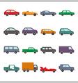 car collection icon vector image