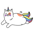 cat unicorn icon cute funny fantasy animal vector image vector image