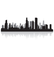 Chicago USA city skyline silhouette