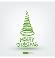 Christmas greeting card Hand drawn design element vector image vector image