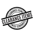 Clearance Items rubber stamp vector image