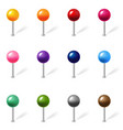 color location pin set isolated white background vector image vector image