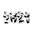 Creative logo 2021 from numbers in form