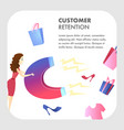 customer retention website color template vector image