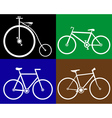 different bikes vector image vector image