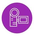 Digital video camera line icon vector image