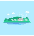 Eco Energy Landscape vector image