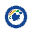 Emblem billiards vector image vector image