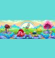 fantasy animals in a landscape dreams vector image vector image