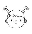 figure avatar girl head with hairstyle design vector image