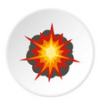 fire explosion icon circle vector image vector image