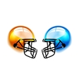 Football Helmets on white vector image vector image