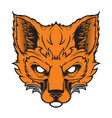 fox mascot for a sport team vector image vector image