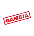 Gambia Rubber Stamp vector image vector image