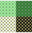 geometrical circle pattern design background set vector image vector image