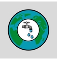 globe world water eco environment concept design vector image vector image
