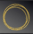 golden glitter ring isolated on dark background s vector image