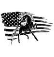 grunge flag background wild horse vector image