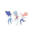 happy dancing people vector image vector image