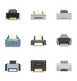 home printer icon set flat style vector image vector image