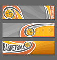 horizontal banners for basketball vector image vector image