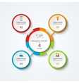 Infographic diagram with 4 options vector image vector image