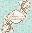 INVITATION CARD ON ABSTRACT FLORAL BACKGROUND vector image vector image