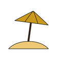 isolated umbrella design vector image