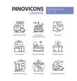 logistics - colorful line design style icons set vector image vector image