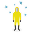 man in protective suit coronavirus covid-19 vector image vector image