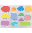 many designs of speech bubbles in different colors vector image