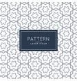 minimal line flower pattern background design vector image vector image