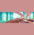 modern city empty freeway junction cartoon vector image