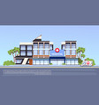 modern hospital building exterior medical clinic vector image vector image
