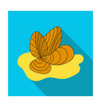 mussels icon in flat style isolated on white vector image vector image