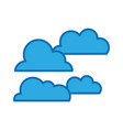 natural cloud weather in the sky design vector image vector image