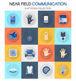 near field communication item collection banner vector image